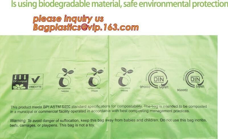 Compostable Cornstarch Biodegradable Recycling Bags 100% Environment Friendly