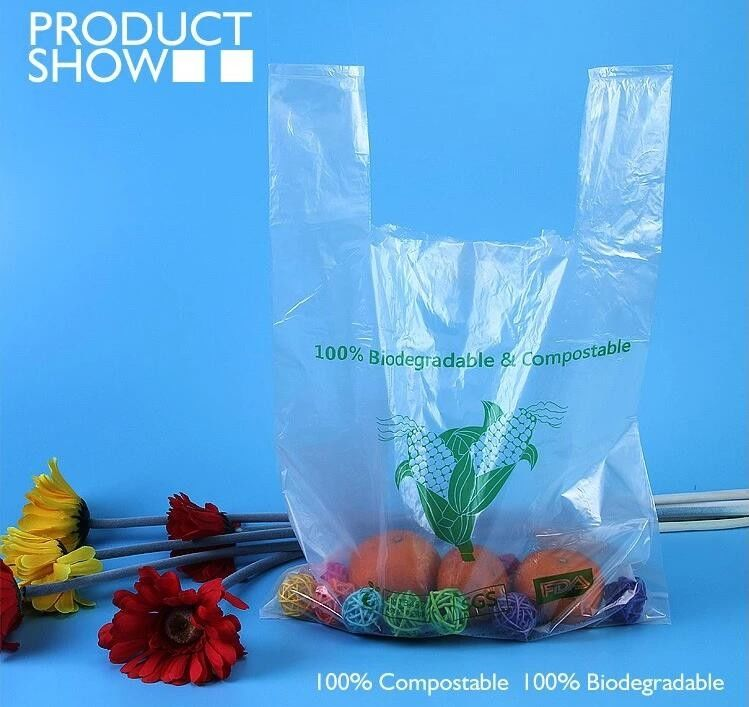 Grocery Biodegradable Compost Bags Fully PLA Food Grade In Roll